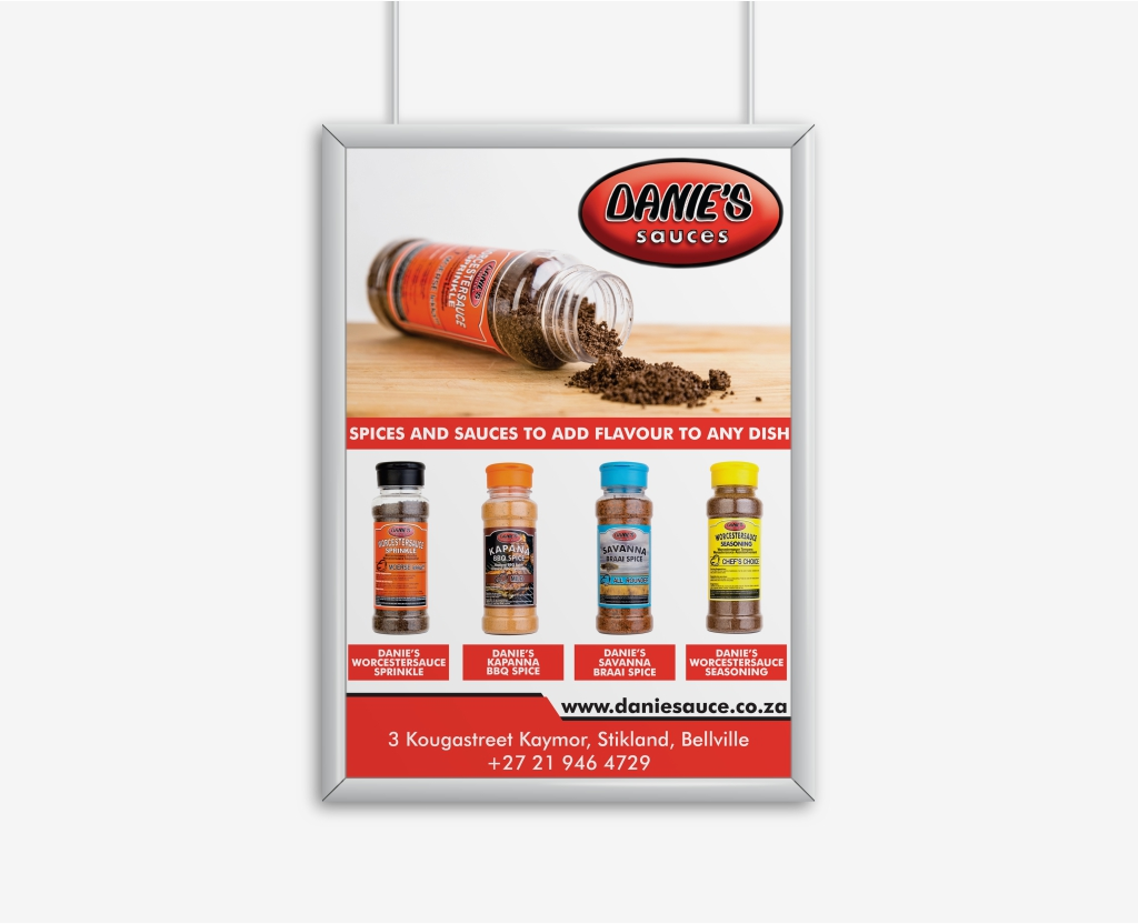 Danie Sauces Spice Poster