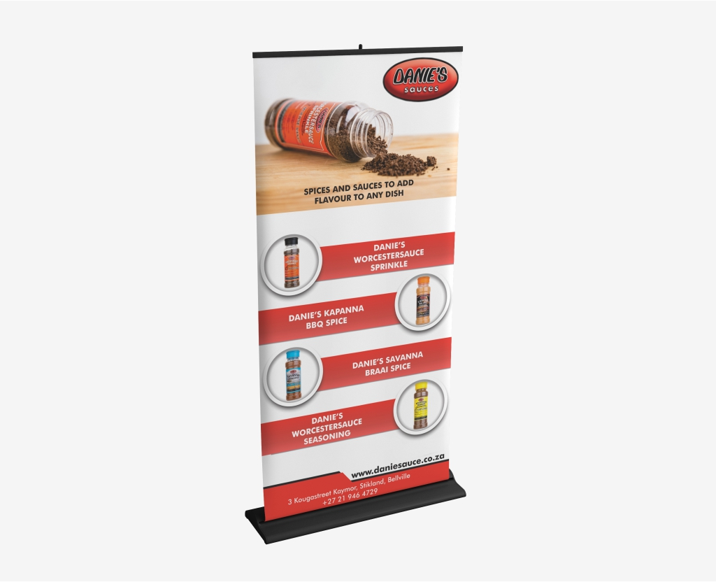 Danie Sauces Spice Pullup Banner